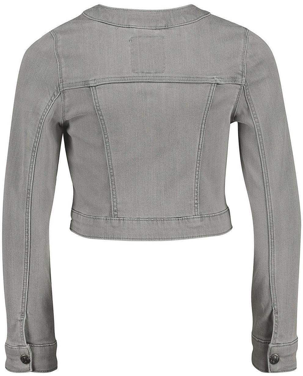 Blazer - Blassgrau - Jeansjacke mit Glitzerstreifen